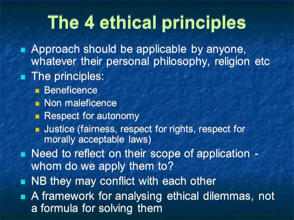 The 4 ethical principles