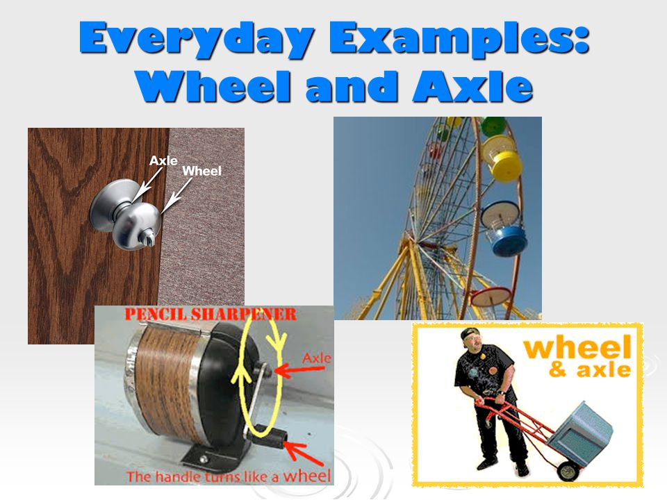 Examples Of Wheel And Axle work and simple machines - ppt video online download