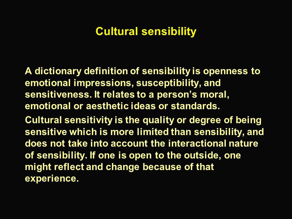 Cultural sensibility