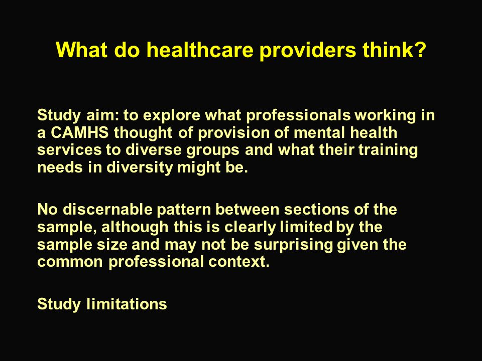 What do healthcare providers think