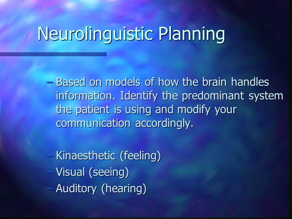 Neurolinguistic Planning