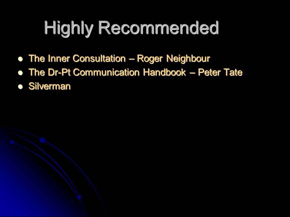 Highly Recommended The Inner Consultation – Roger Neighbour