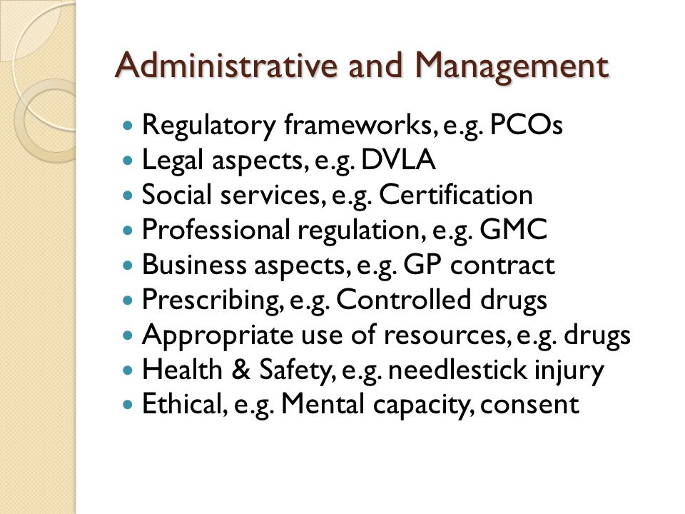 Administrative and Management