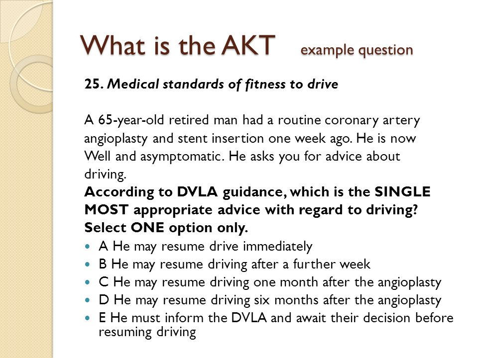 What is the AKT example question