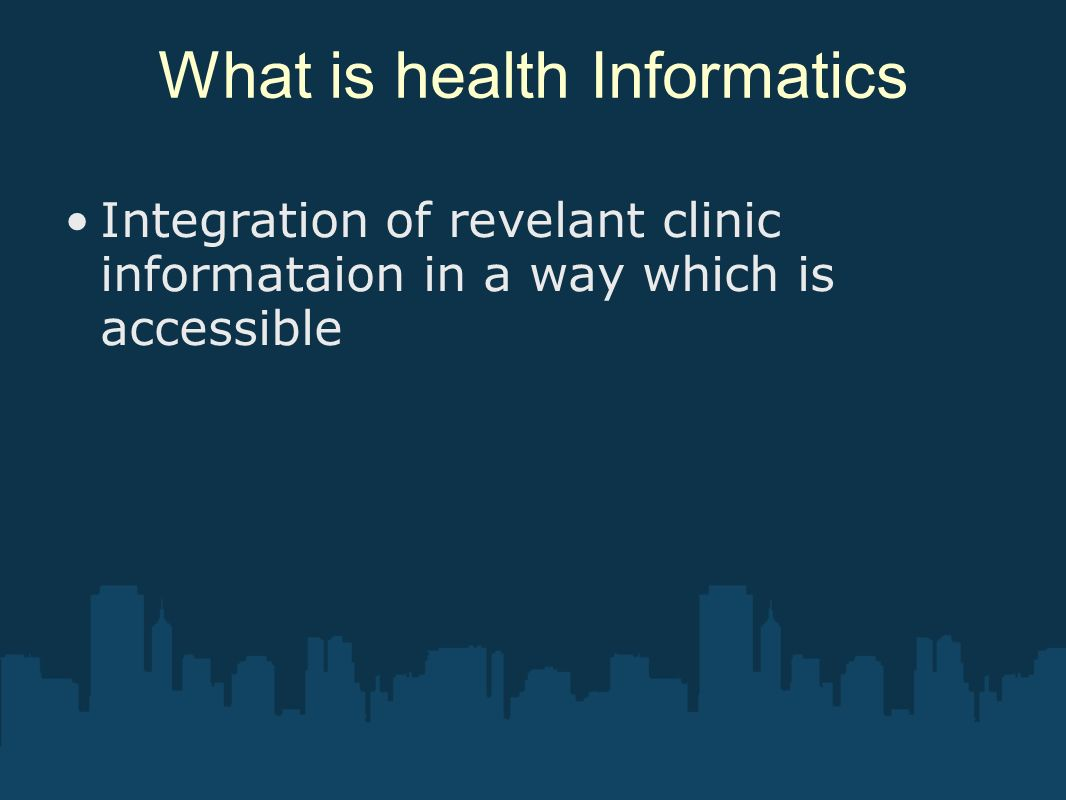 What is health Informatics