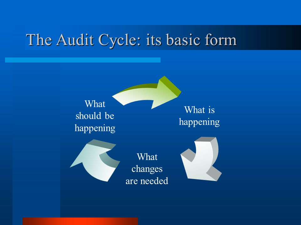 The Audit Cycle: its basic form