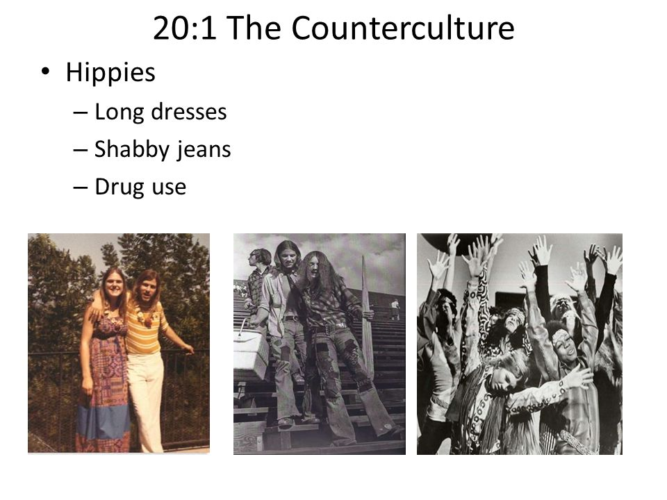 the impact of the hippie counterculture on american society The hippie counterculture of the sass had low to moderate impact on the american society at the time however, they had a lasting impact on a society that tended to be resistant to change even though the hippies lacked organization, they called attention to some important issues that mainstream society may not have fully considered.