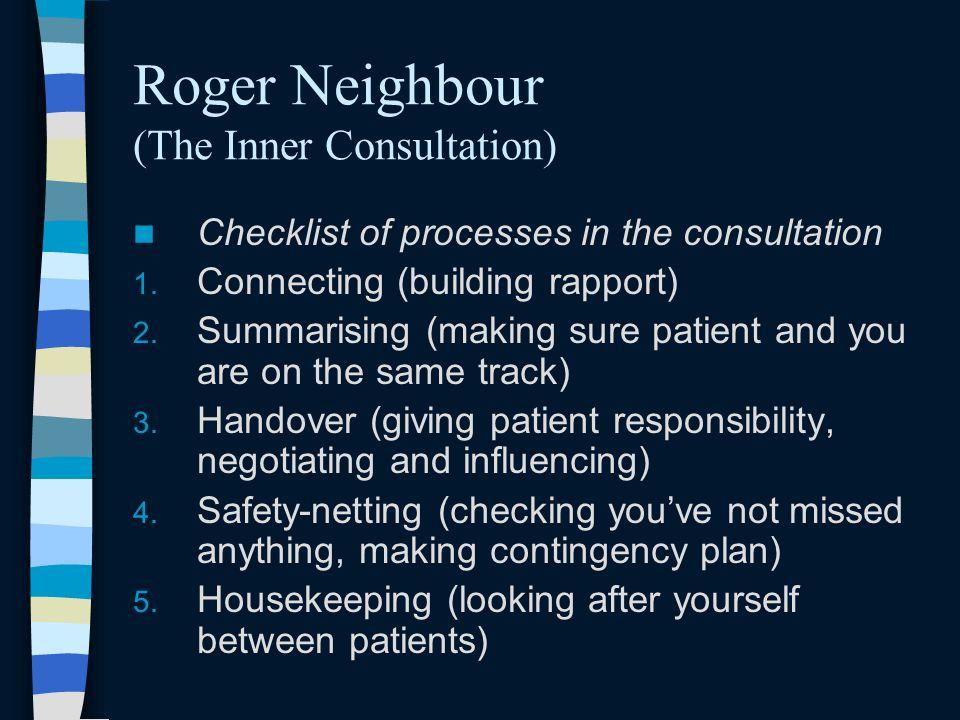 Roger Neighbour (The Inner Consultation)