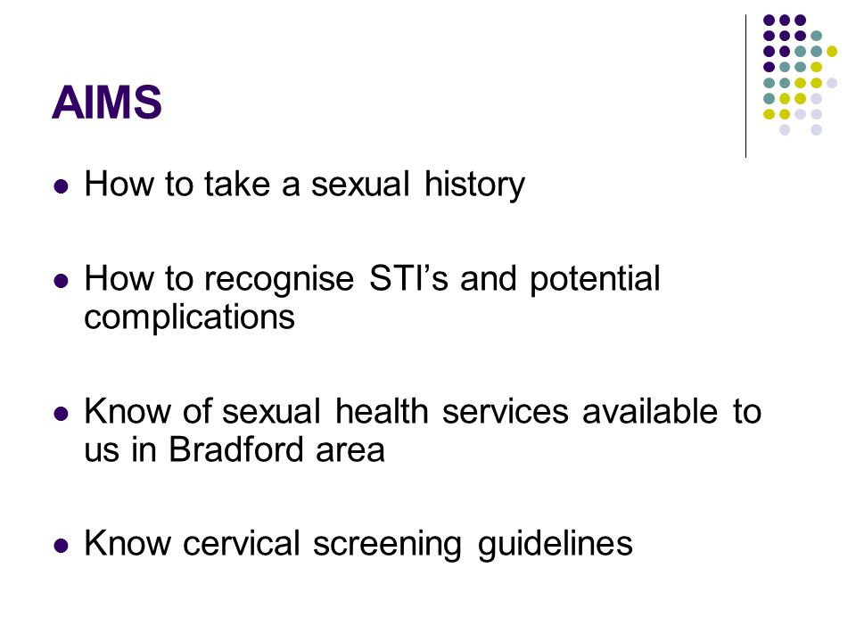 AIMS How to take a sexual history