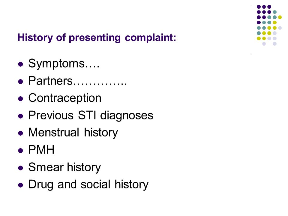History of presenting complaint: