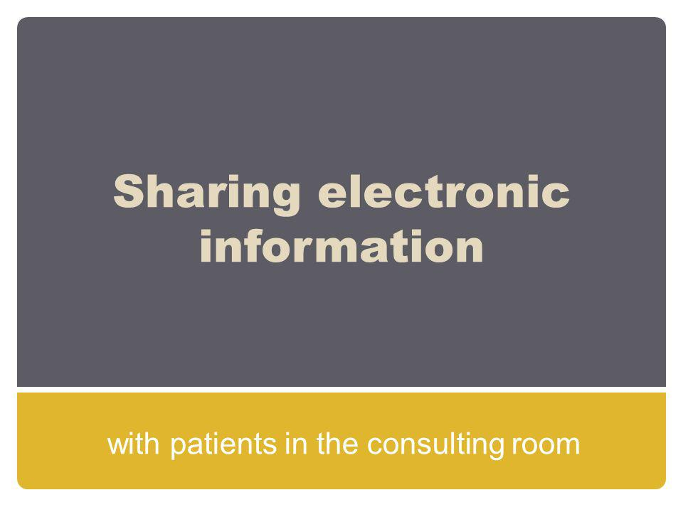 Sharing electronic information