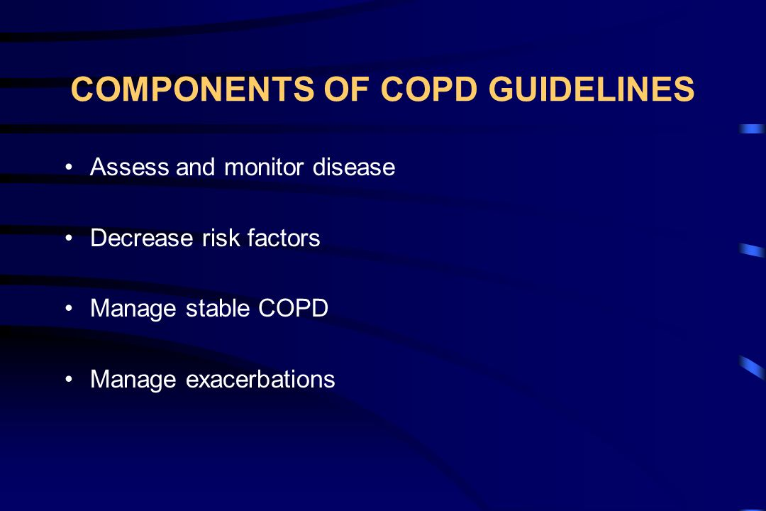 COMPONENTS OF COPD GUIDELINES