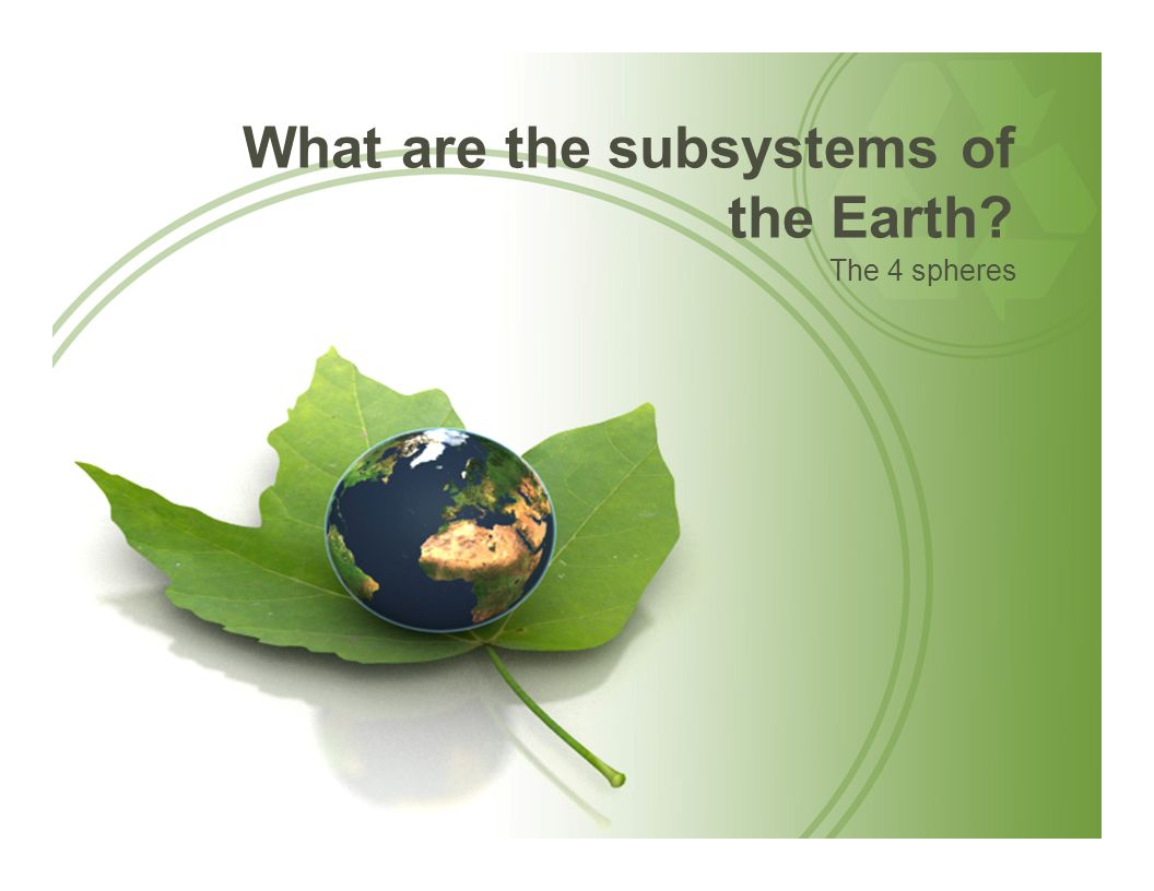 What are the subsystems of the Earth