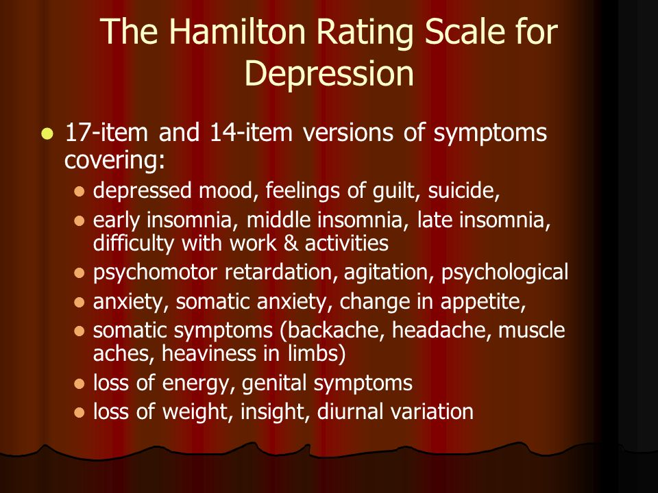 depression and anxiety scale pdf
