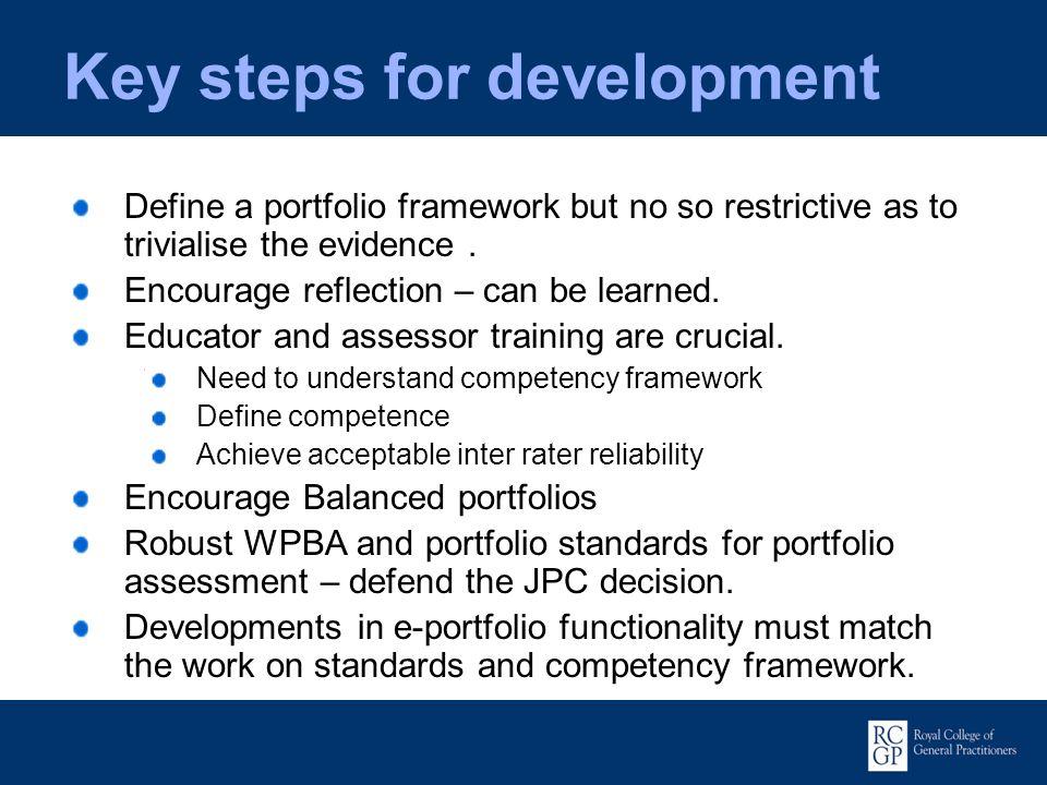 Key steps for development