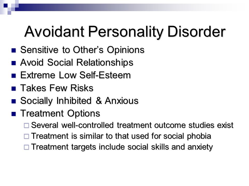 Avoidant Personality Disorder (AVPD) Out of the FOG