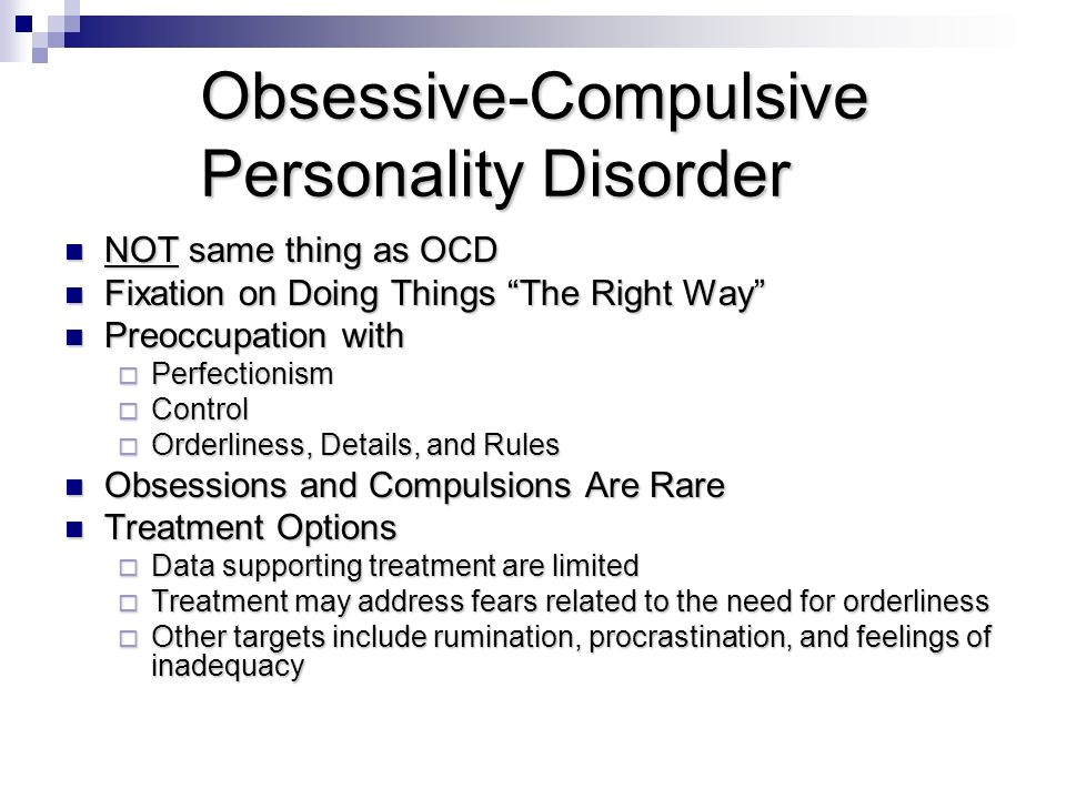 personality disorders and treatments Personality disorders have their onset in late adolescence or early adulthood doctors rarely give a diagnosis of personality disorder to children on the grounds that children's personalities are still in the process of formation and may change considerably by the time they are in their late teens.