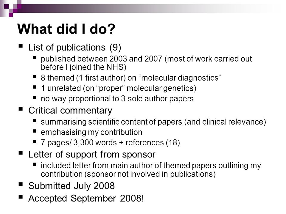 What did I do List of publications (9) Critical commentary