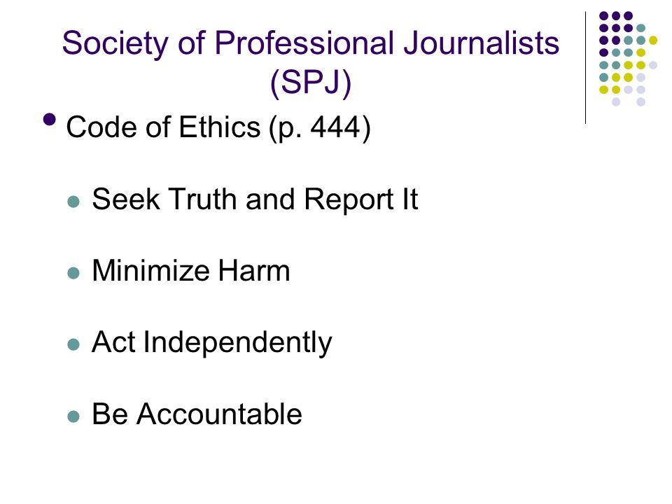 The Society of Professional Journalists Code