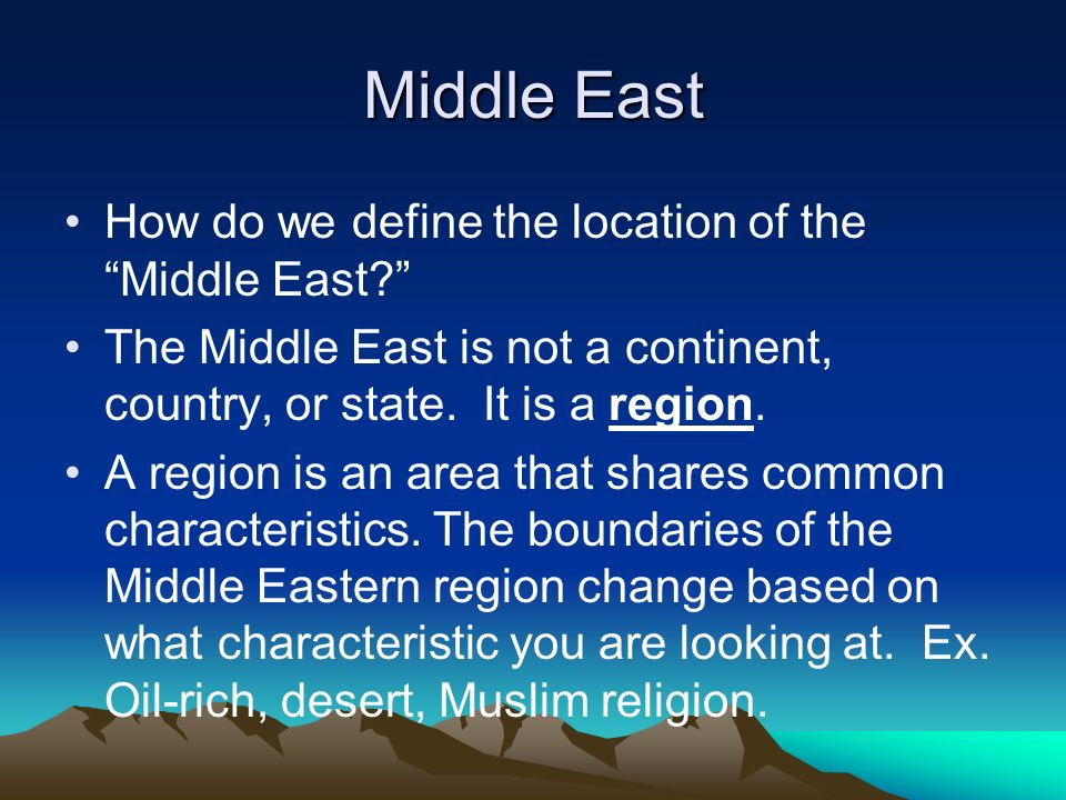 Activator Day 1: My Perceptions of the Middle East List all of the ...