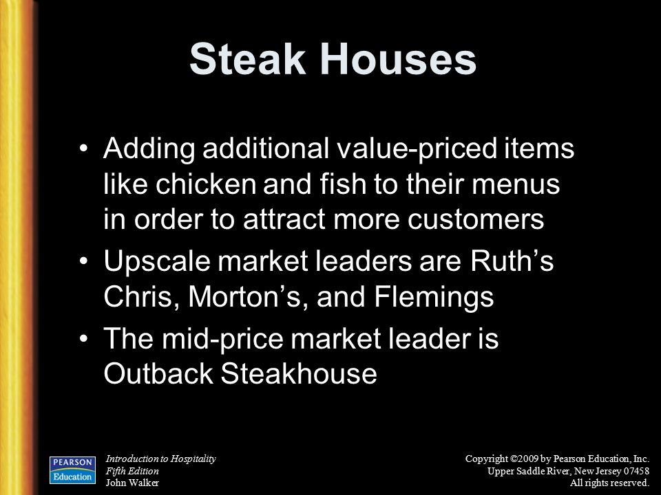 Chapter 6 the restaurant business ppt download for Jordan s fish and chicken menu