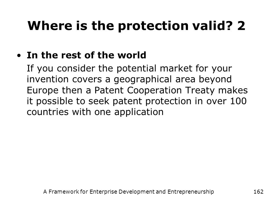 Where is the protection valid 2