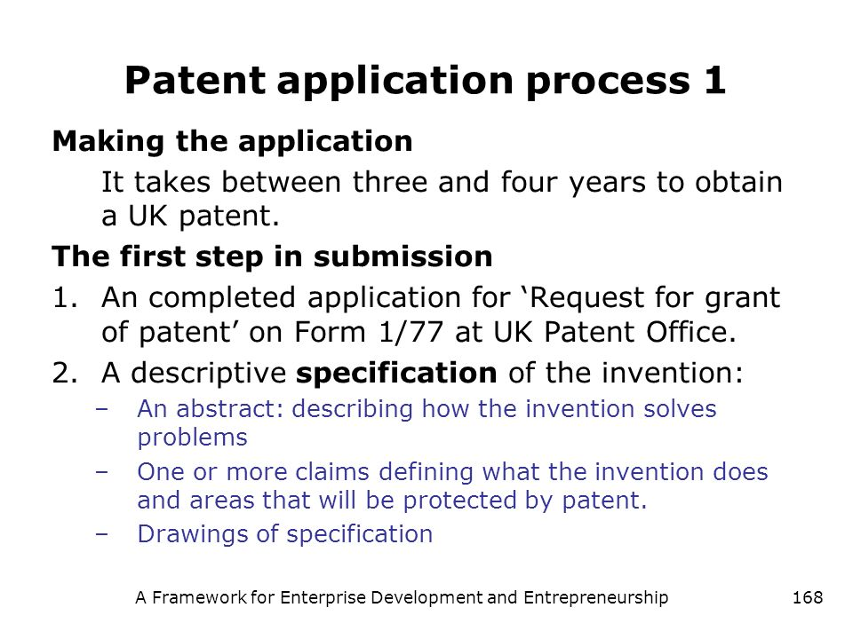Patent application process 1