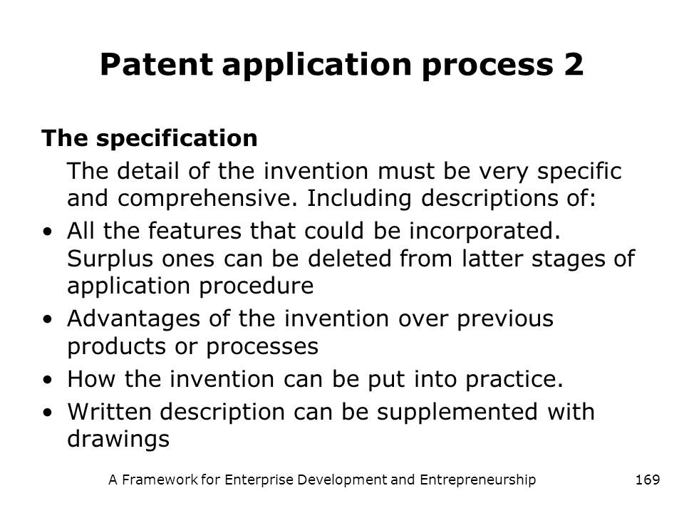 Patent application process 2