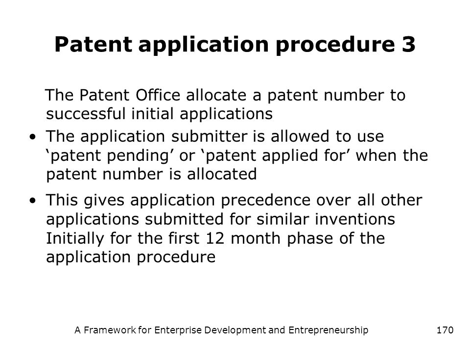 Patent application procedure 3