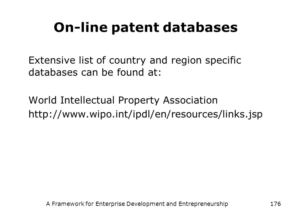 On-line patent databases