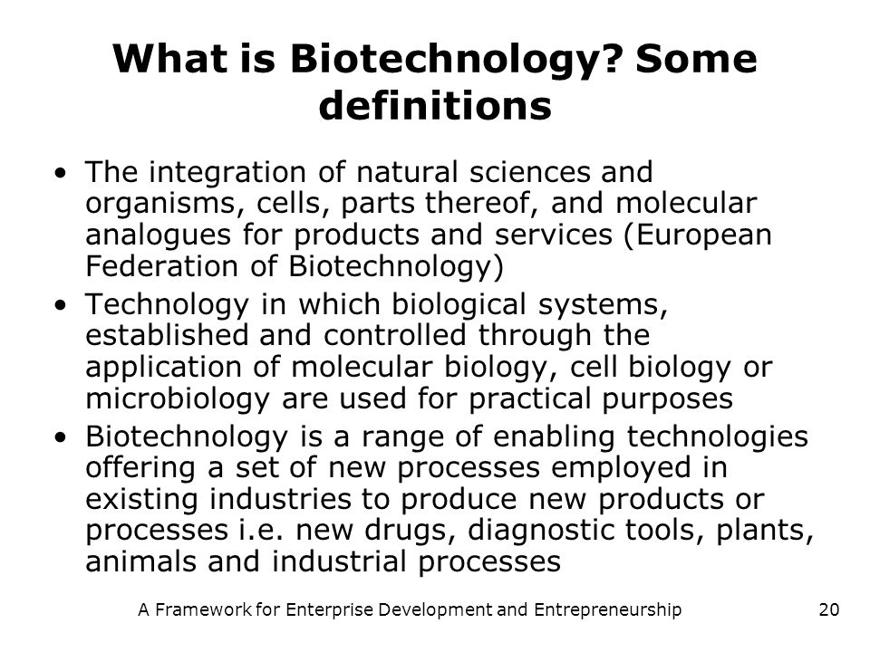 What is Biotechnology Some definitions