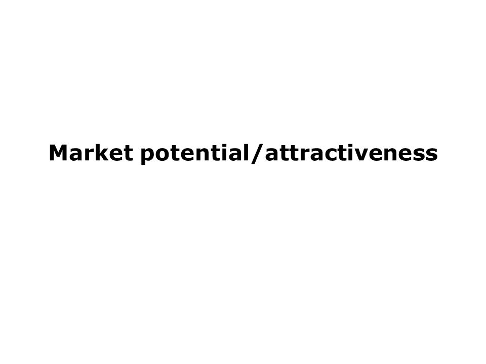 Market potential/attractiveness