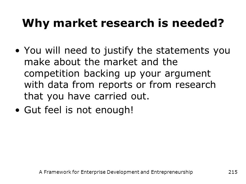 Why market research is needed