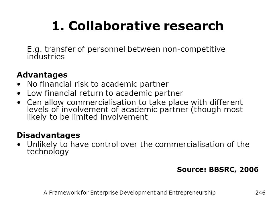1. Collaborative research