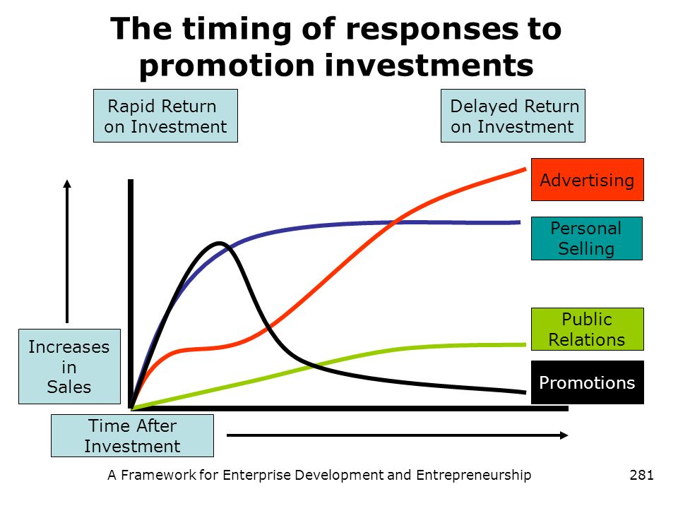 The timing of responses to promotion investments