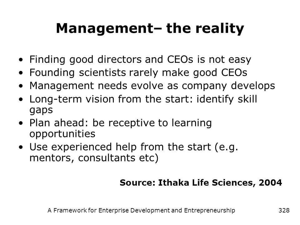 Management– the reality