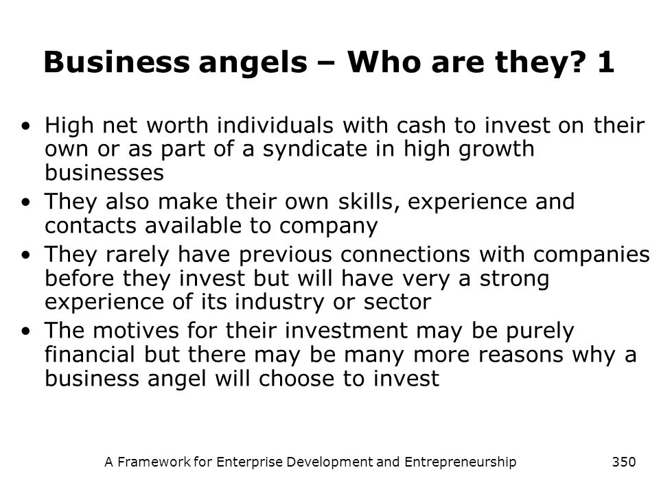Business angels – Who are they 1