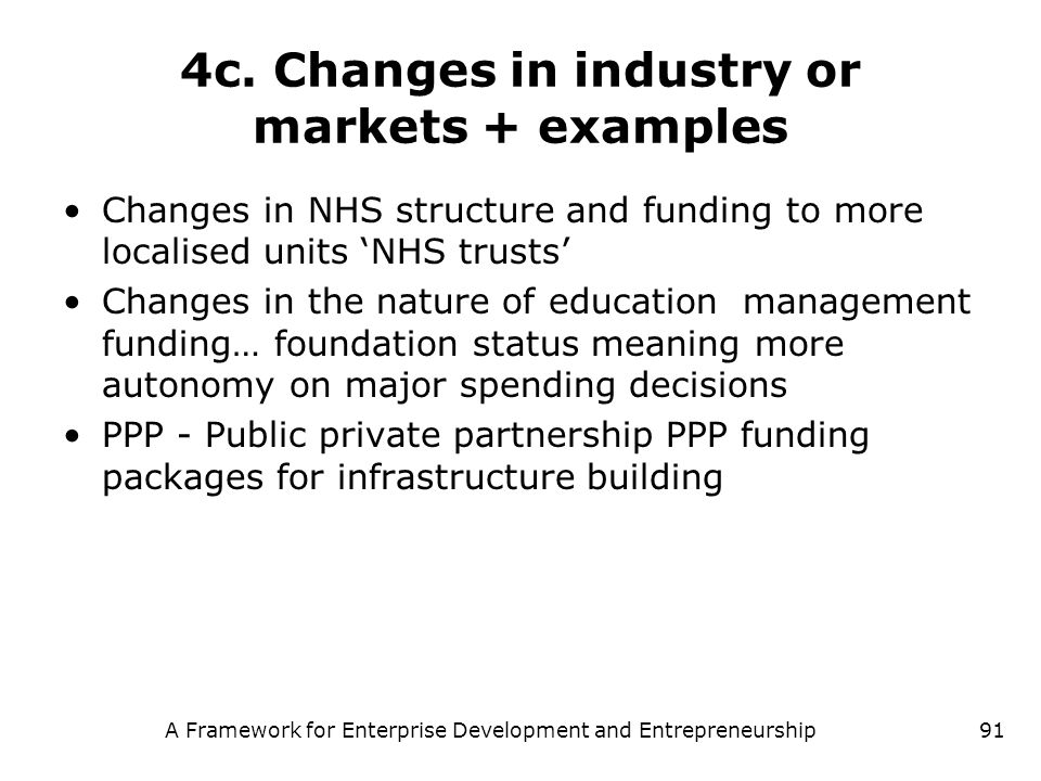 4c. Changes in industry or markets + examples