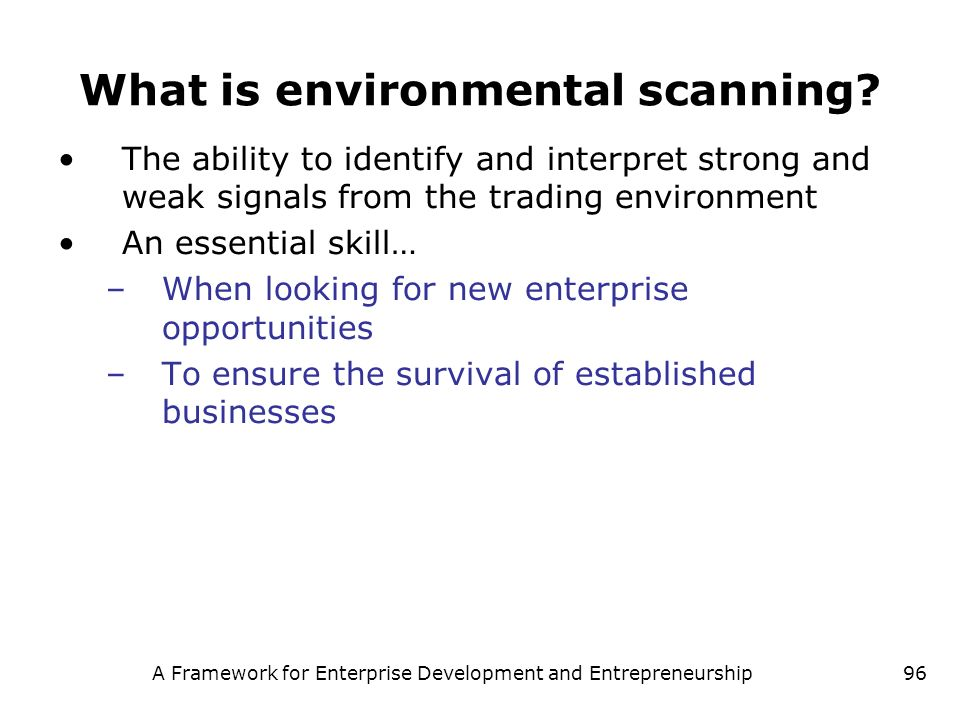 What is environmental scanning
