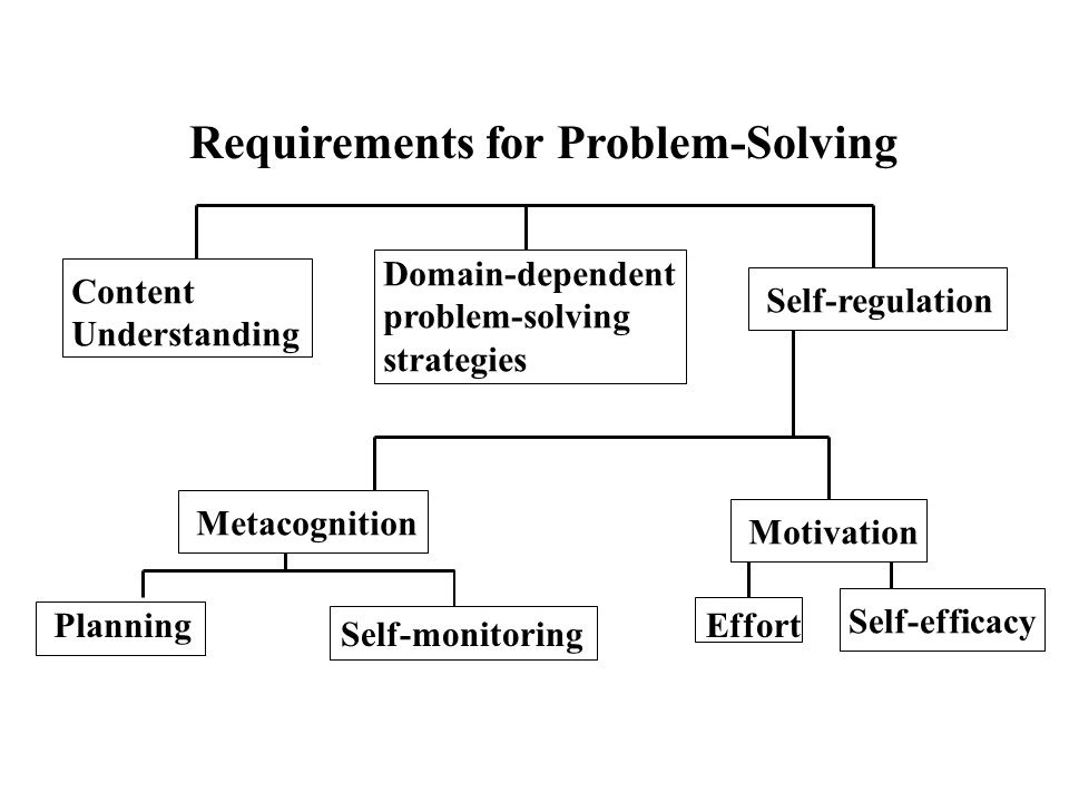 Requirements for Problem-Solving