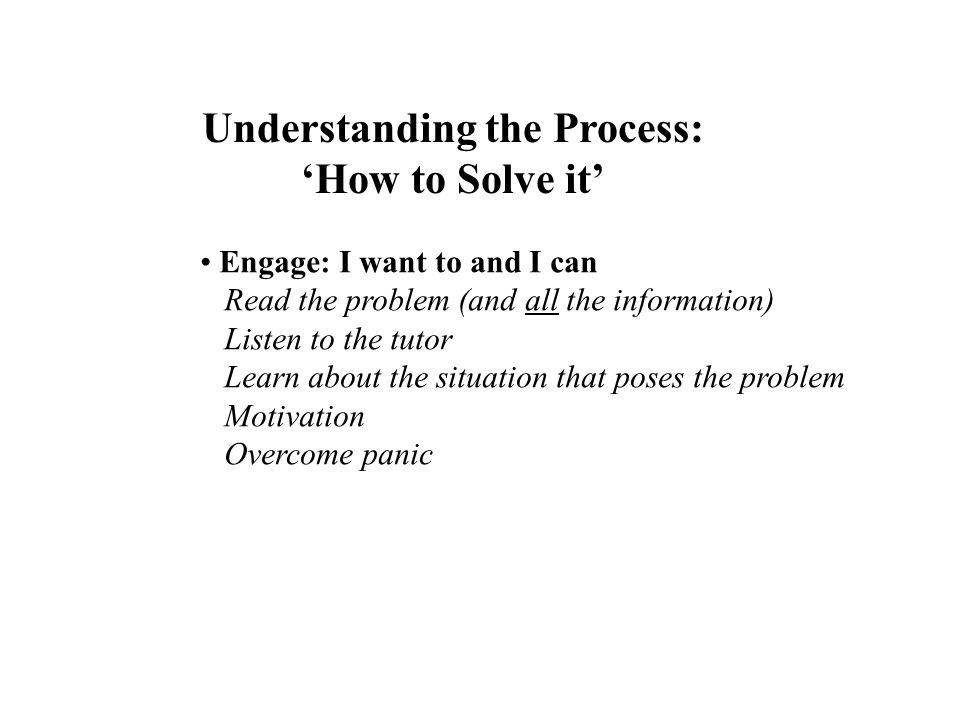 Understanding the Process: