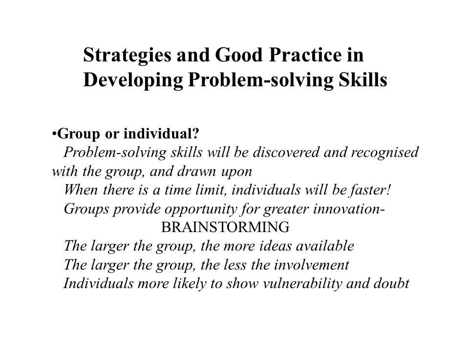 strategies to develop critical thinking and problem-solving skills