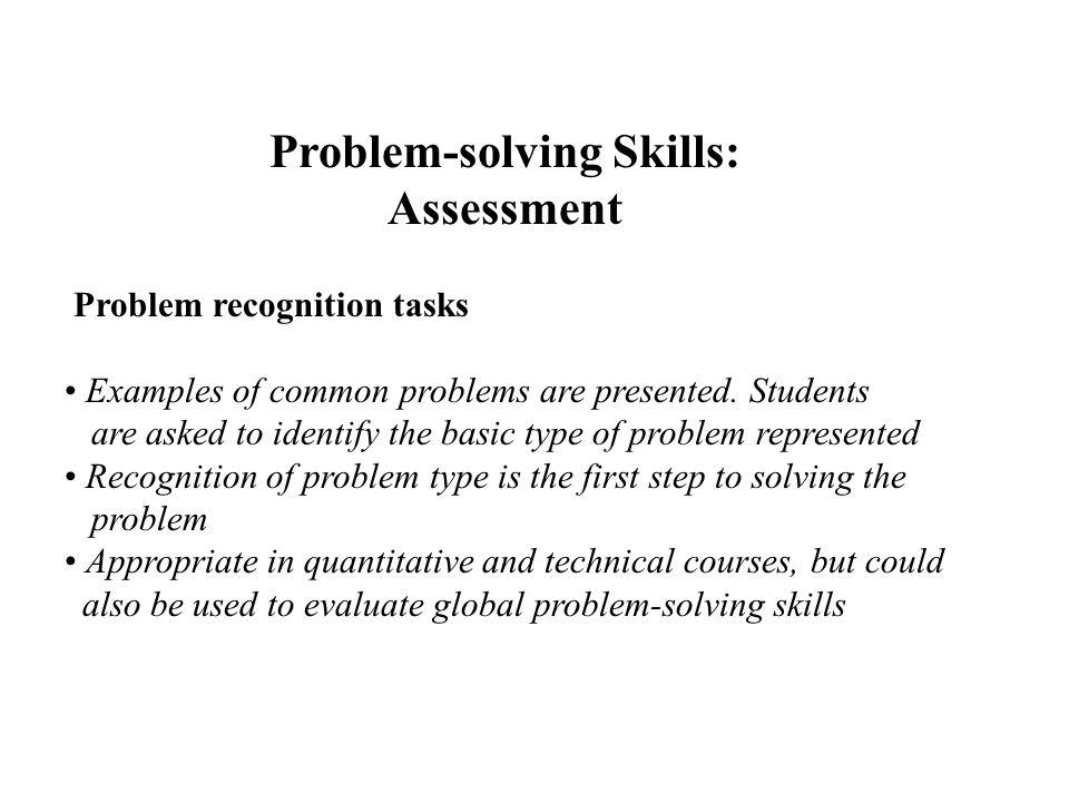 Problem solving skills examples resume