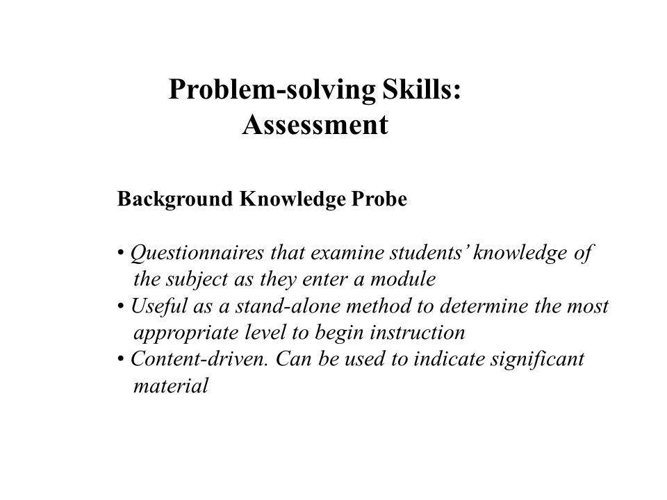Problem-solving Skills: