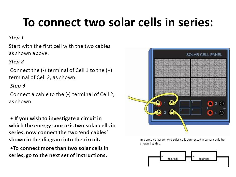 Connecting solar cells in series - ppt video online download