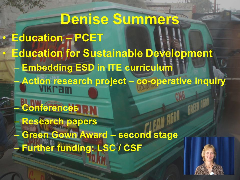 Denise Summers Education – PCET Education for Sustainable Development