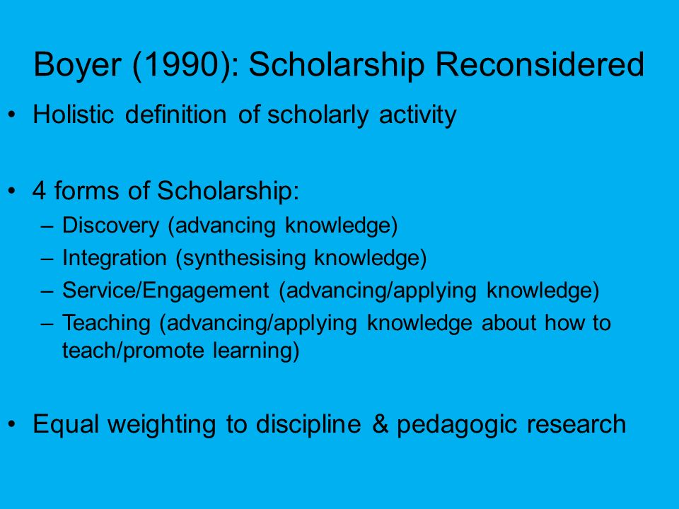 Boyer (1990): Scholarship Reconsidered