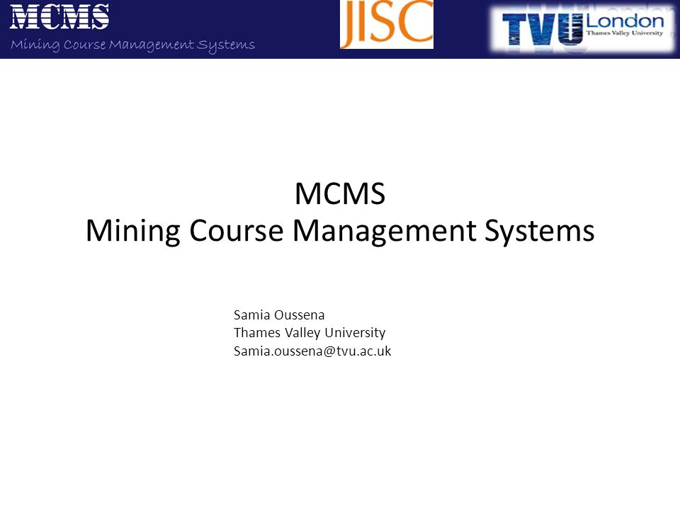 MCMS Mining Course Management Systems