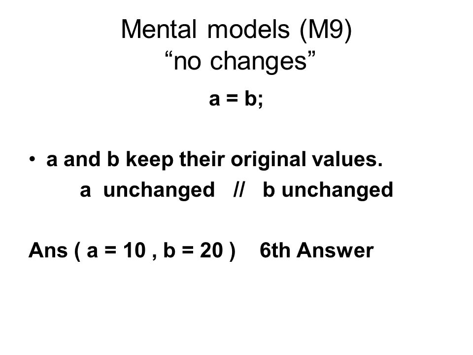 Mental models (M9) no changes