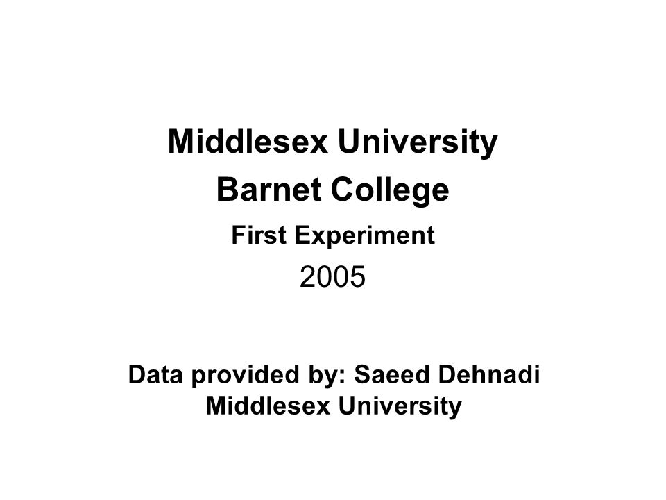 Data provided by: Saeed Dehnadi Middlesex University